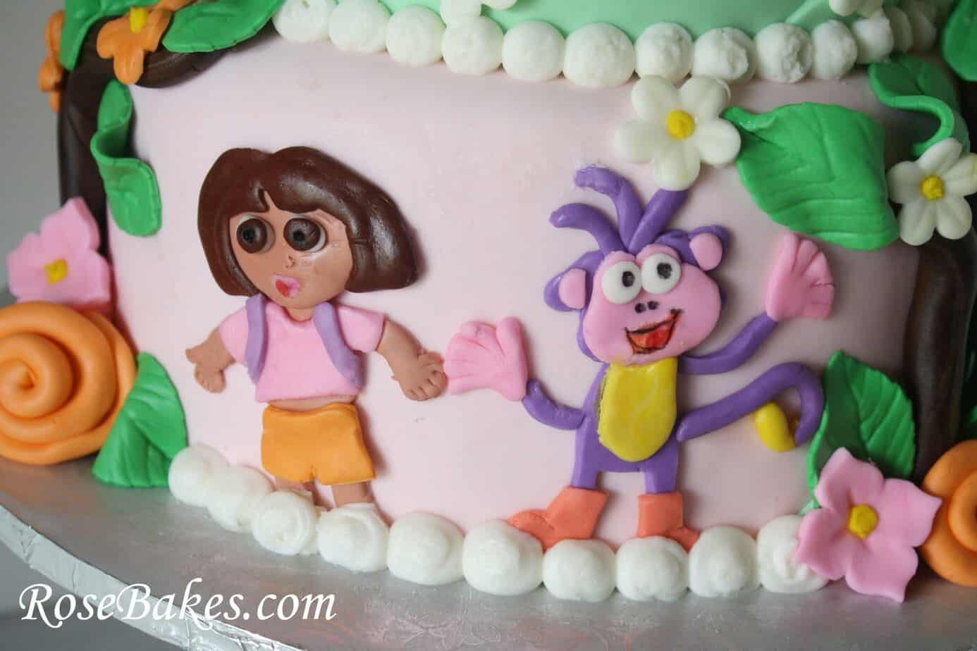 Astonishing Dora The Explorer Birthday Cake Rose Bakes Birthday Cards Printable Nowaargucafe Filternl