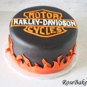 Harley Davidson Black Fire Cake 2