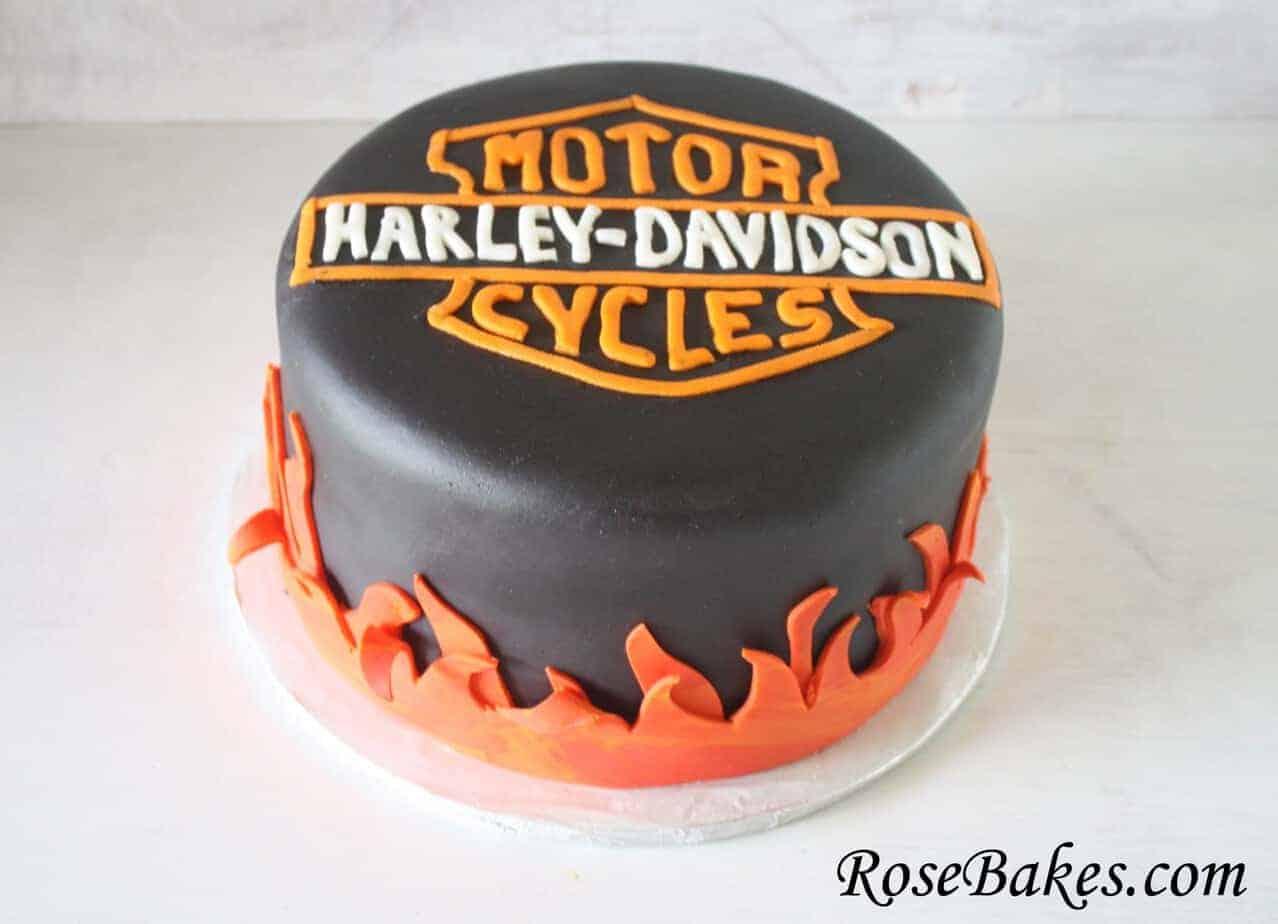 Marvelous Harley Davidson Birthday Cake Funny Birthday Cards Online Fluifree Goldxyz