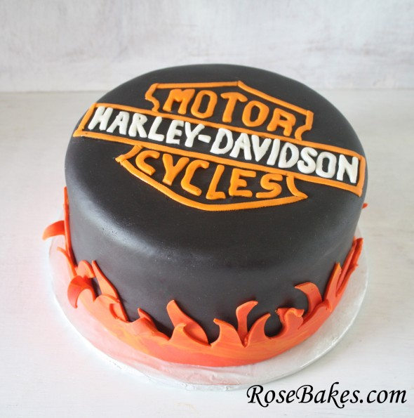 Surprising Harley Davidson Birthday Cake Funny Birthday Cards Online Fluifree Goldxyz