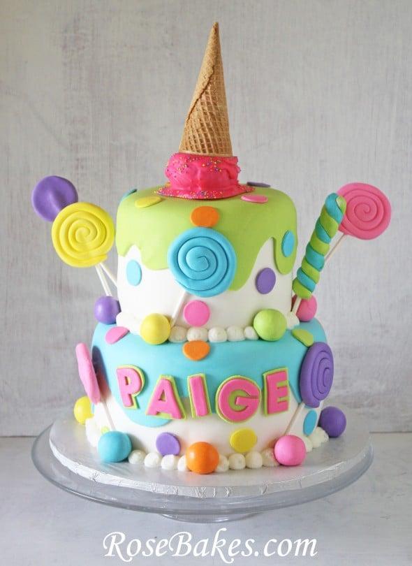 Super Lollipops Candy Ice Cream Cake Birthday Cards Printable Inklcafe Filternl