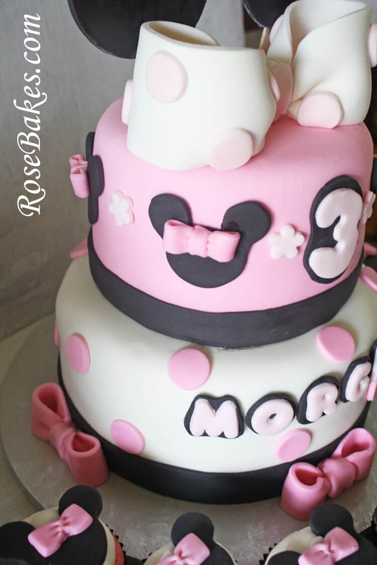 Incredible Mickey And Minnie Mouse Birthday Cakes Cupcakes For Boy Girl Twins Birthday Cards Printable Trancafe Filternl