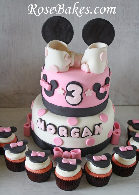 Mickey and Minnie Mouse Birthday Cakes & Cupcakes for Boy ...