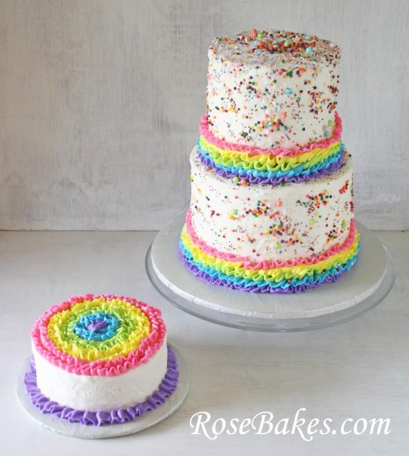 Rainbows Ruffles Sprinkles Birthday Cake