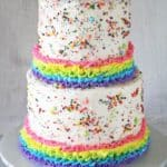Sprinkles Rainbows Ruffles Birthday Cake