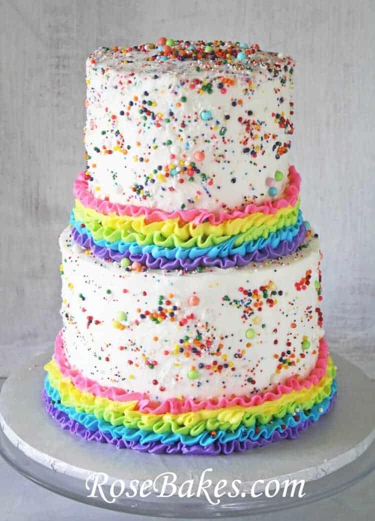 Rainbows, Ruffles, & Sprinkles Birthday Cake