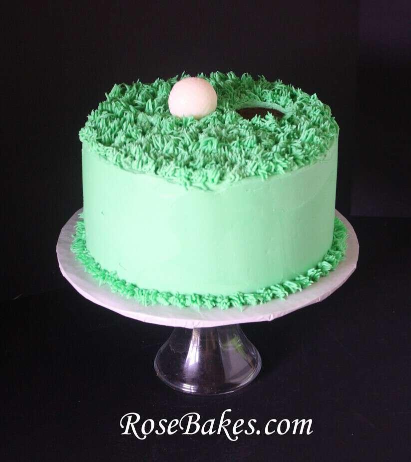 Peachy Golf Ball Green Birthday Cake Side Rose Bakes Personalised Birthday Cards Arneslily Jamesorg