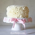 Messy Ruffles Cream Cheese Buttercream Cake Video Tutorial