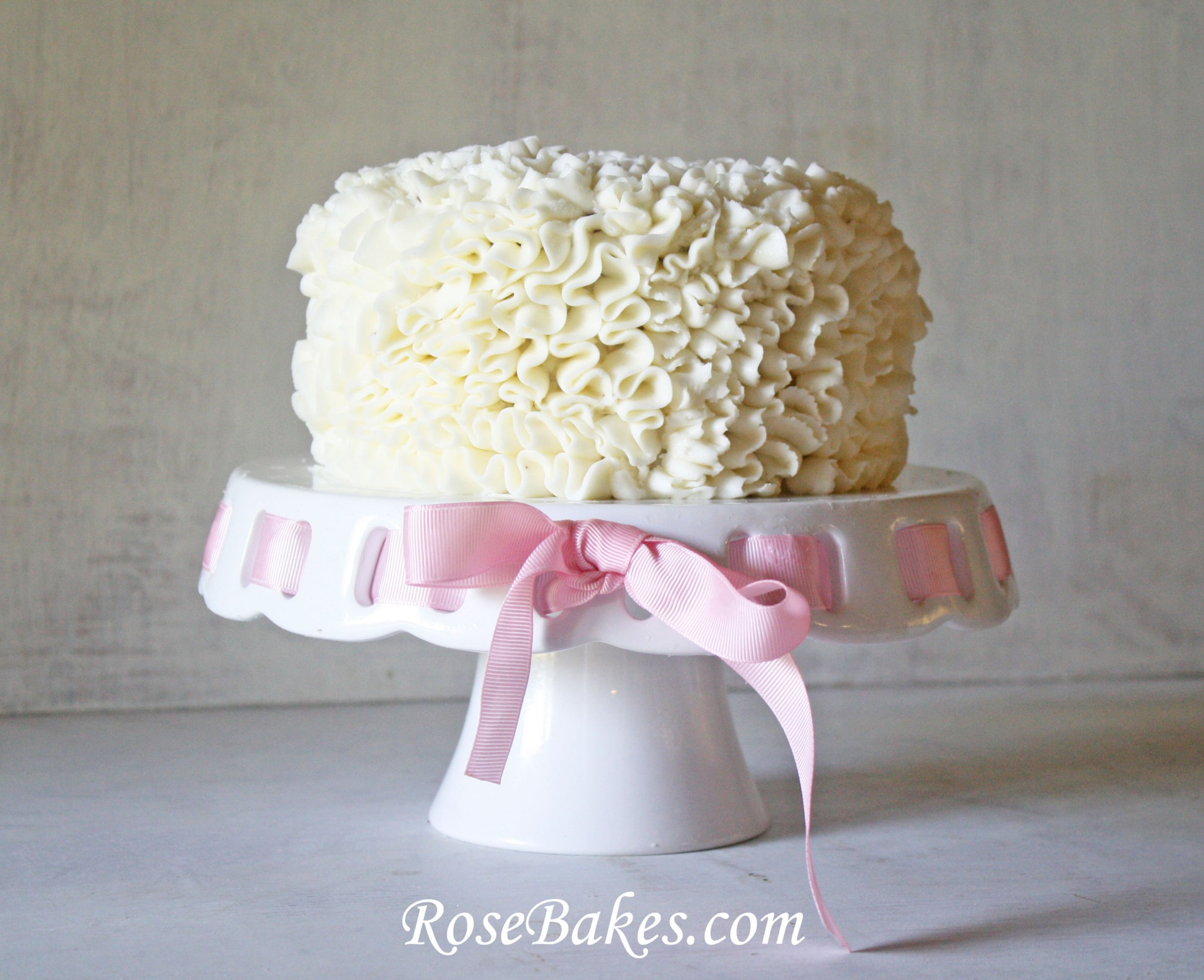 Buttercream Ruffle Cake Decorating : Messy Ruffles Cake Decorating Video Tutorial