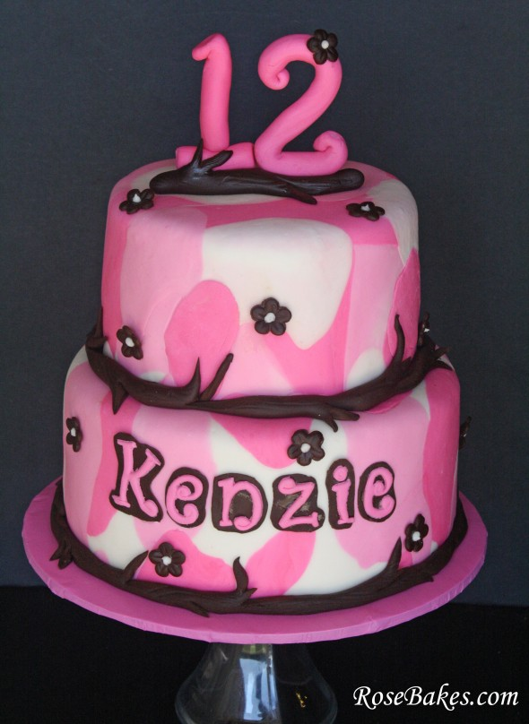 Pink Camo Cake Images : Birthday Parties, Cake Flowers, Cake Ideas, Camouflage ...