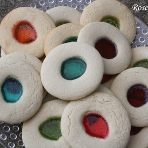 Sugar Cookies with Jolly Rancher Centers