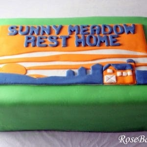 Sunny Meadow Rest Home Retirement Cake
