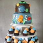 Under the Sea Baby Shower Cake Cupcake Tower