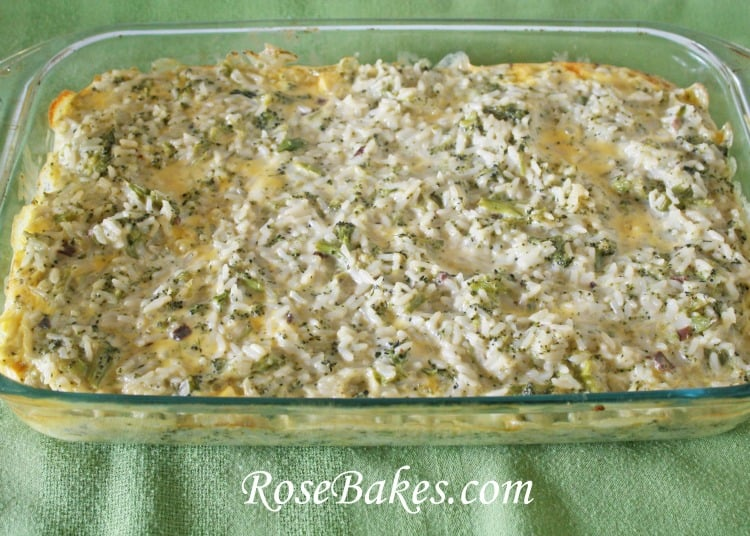 Broccoli Rice & Cheese Casserole Recipe