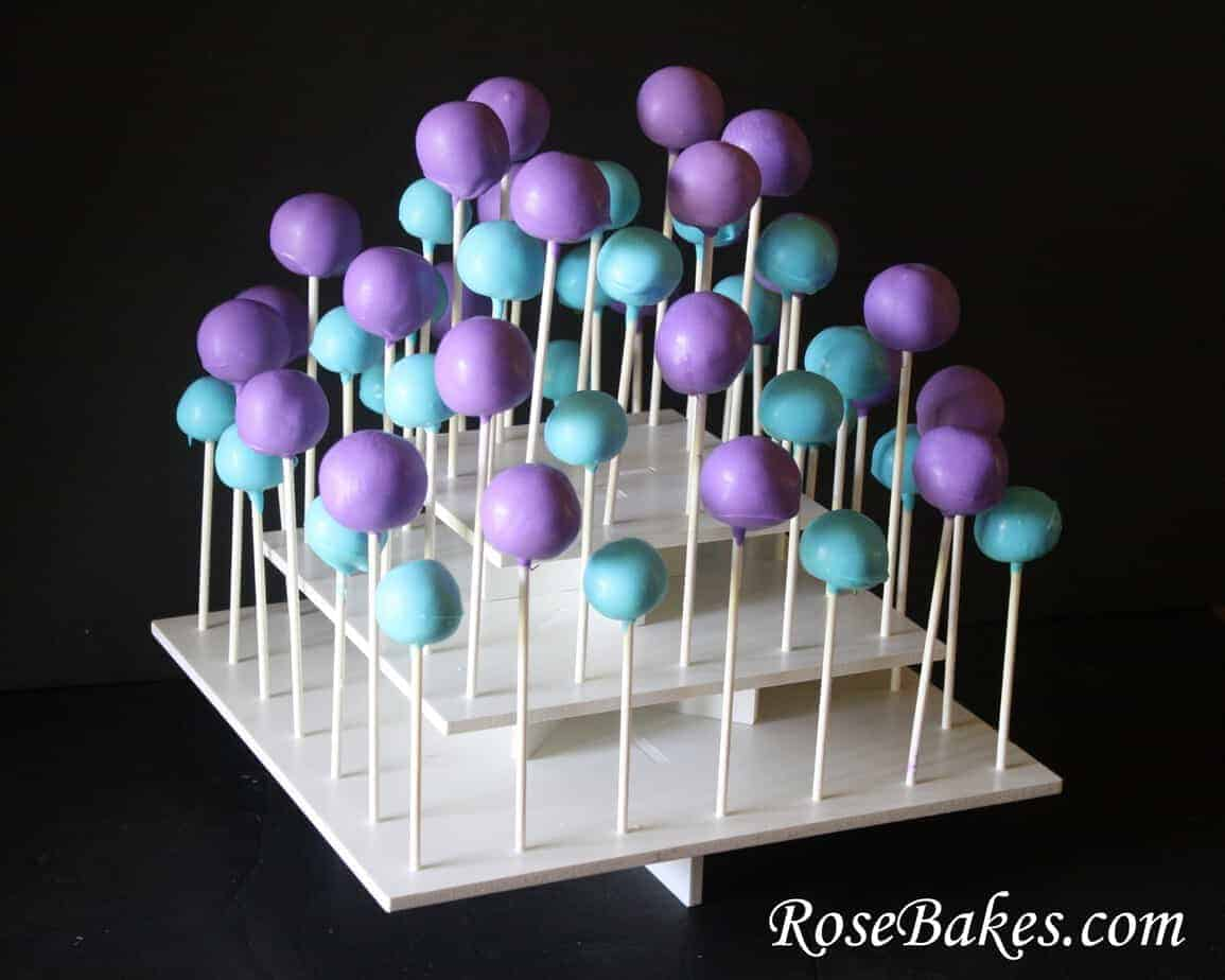 Purple Amp Turqoise Cake Pops And Oreo Balls