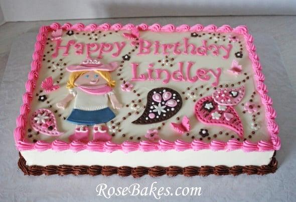 Cowgirl Paisleys Amp Butterflies Sheet Cake