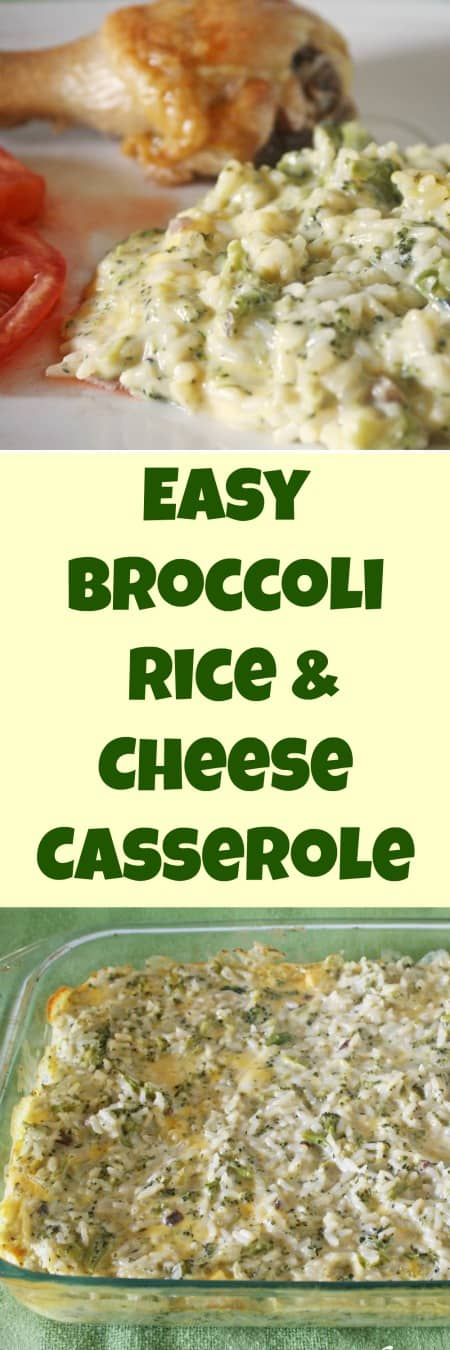 Easy Broccoli Rice & Cheese Casserole