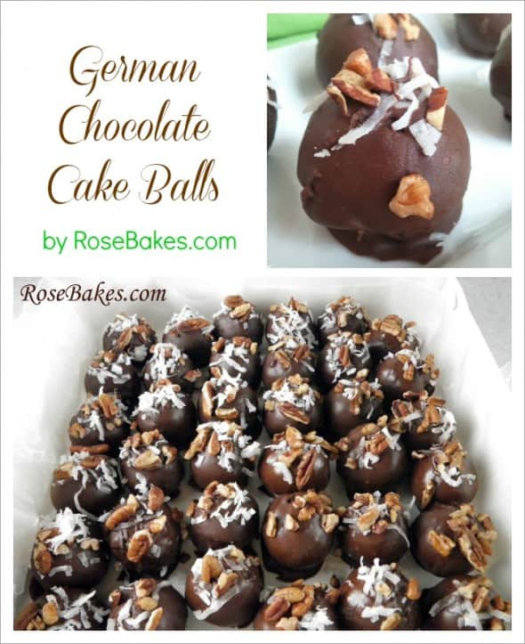 German Chocolate Cake Balls Cover