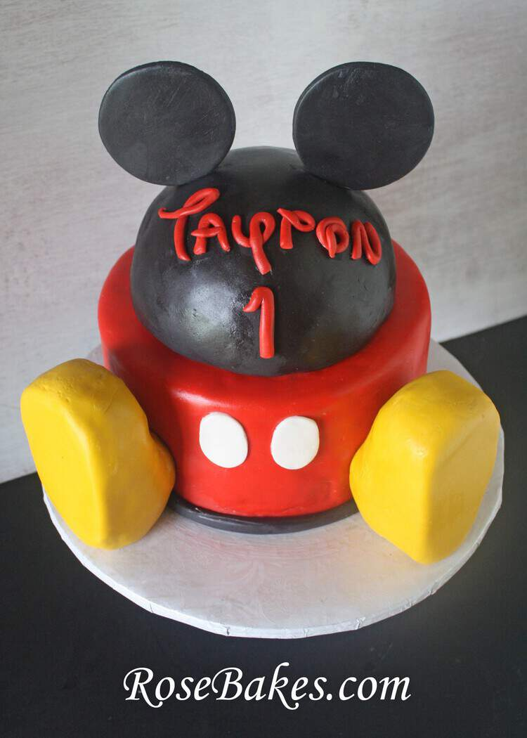 Groovy Mickey Mouse Clubhouse Cake Personalised Birthday Cards Paralily Jamesorg