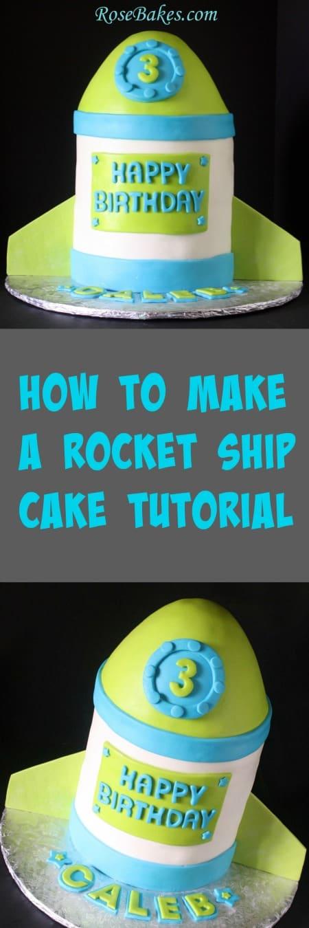 Rocket Ship Cake 3