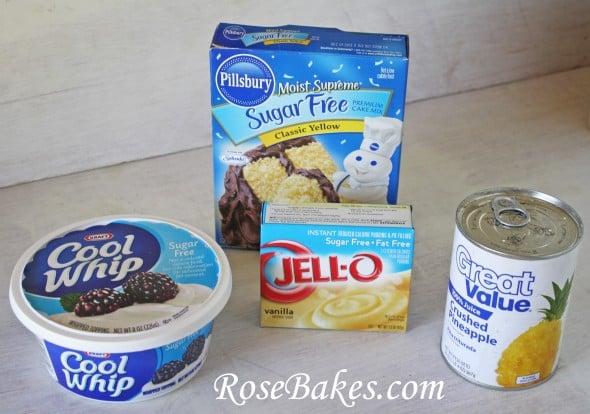 Sugar-Free Pineapple Lush Cake Ingredients