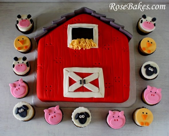 How To Make A Red Barn Cake