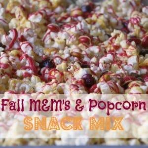Fall M&Ms Popcorn Snack Mix