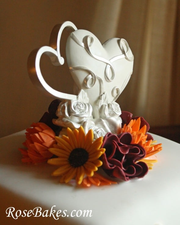 fall wedding cake toppers fall flowers wedding cake 14178