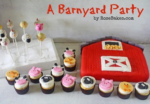 Barnyard Birthday Cake Toppers