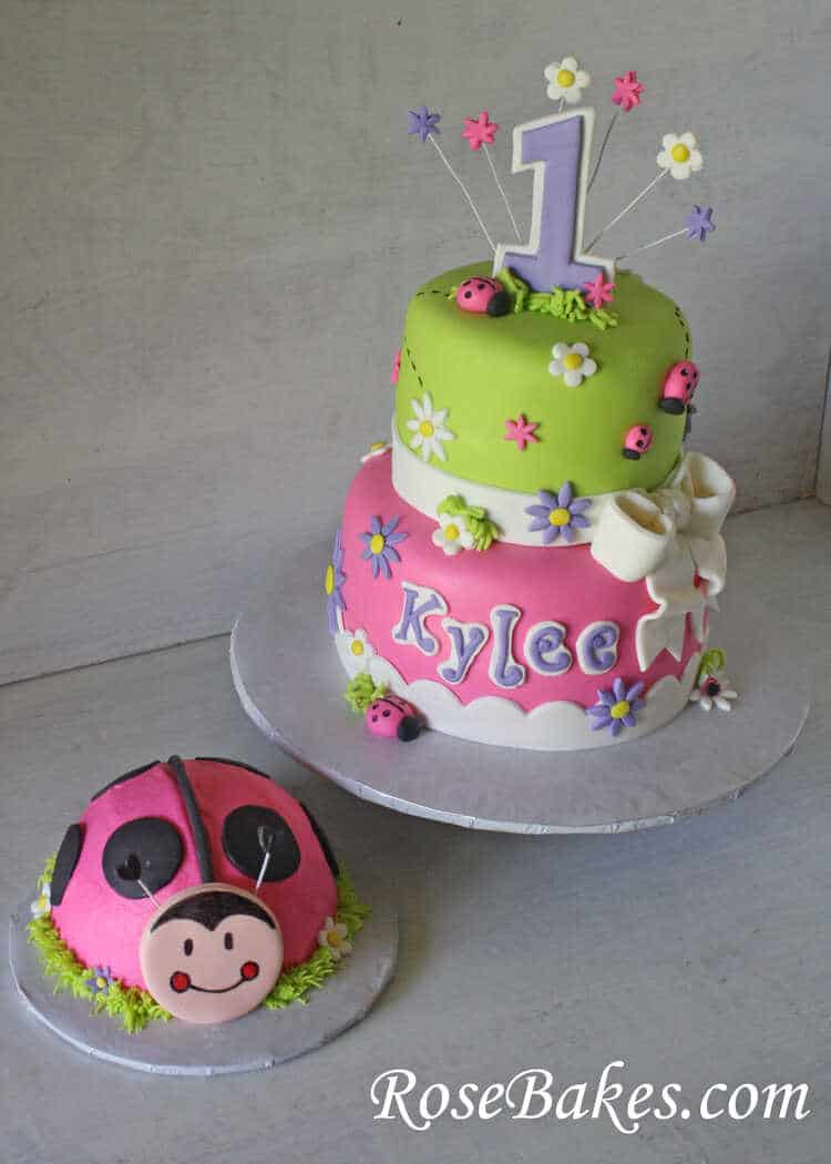 Little Girls First Birthday Cake