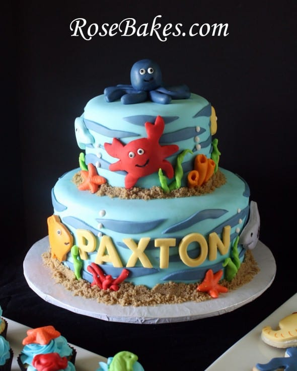 Pintrest Whale Baby Shower Cake