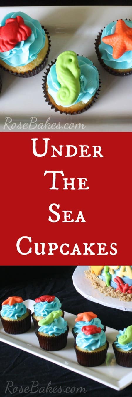 Under the Sea Cupcakes Rose Bakes