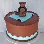 Chocolate Buttercream Monkey Baby Shower Cake
