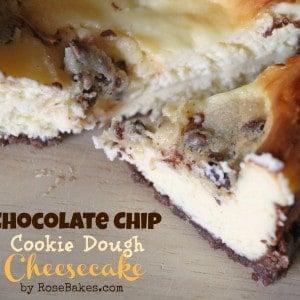 Chocolate Chip Cookie Dough Cheesecake Slice