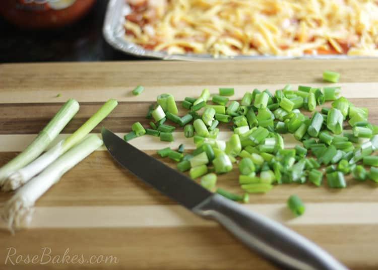Chopped Green Onions for Shrimp Dip