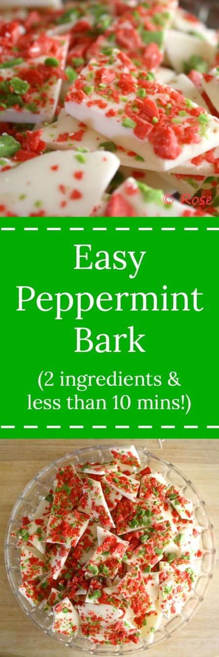 Easy Peppermint Bark (2 ingredients and 10 minutes)  RoseBakes