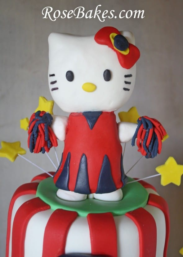 Ole Miss Hello Kitty Cheerleader Amp Football Cake