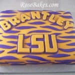 LSU Tiger Stripes Sheet Cake