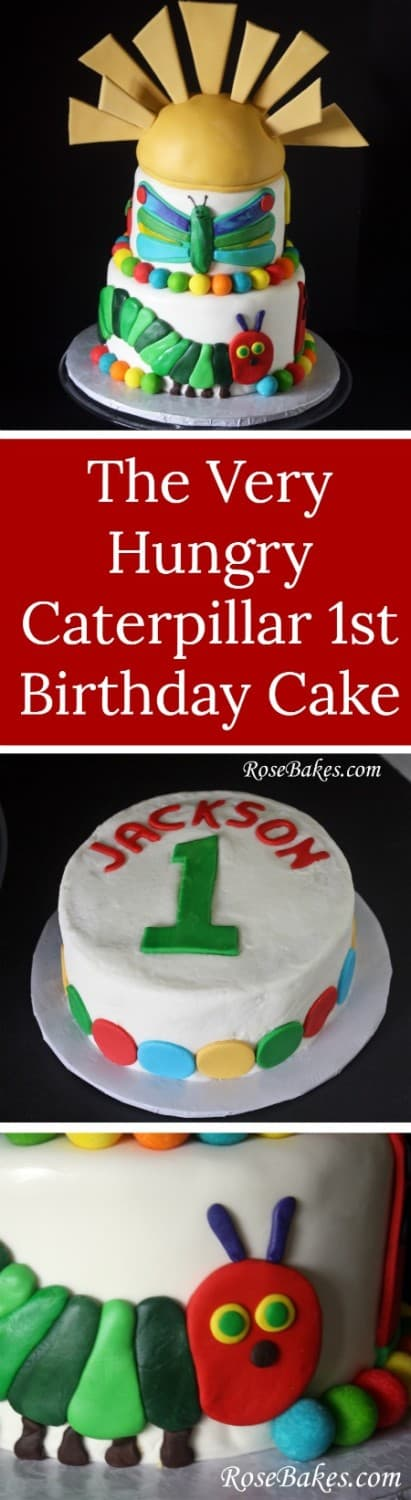 The Very Hungry Caterpillar 1st Birthday Cake & Smash Cake | RoseBakes.com