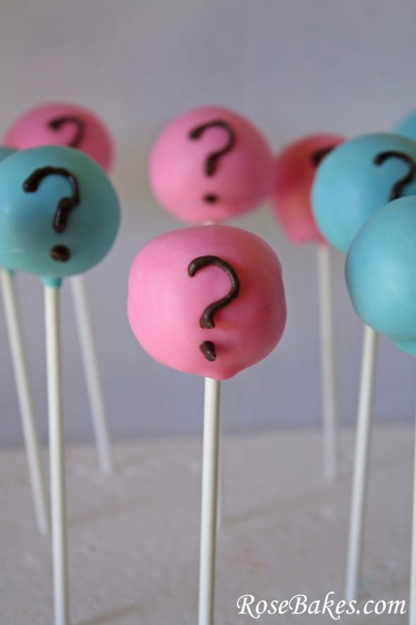Baby Gender Reveal Party Cake Pops