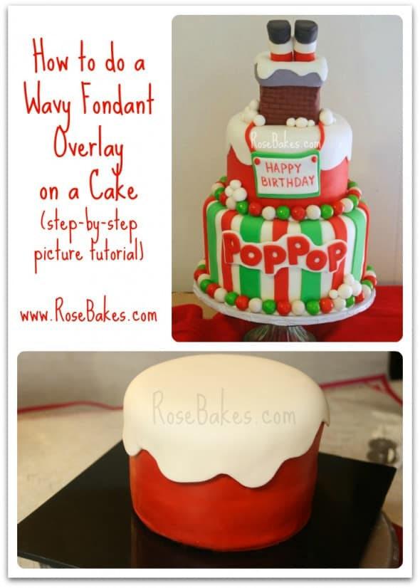 How to Do a Wavy Fondant Overlay on a Cake Tutorial
