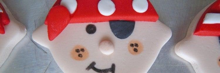 Pirate Face Cupcake Topper