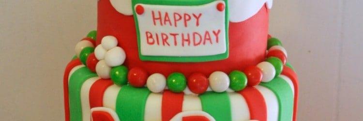 santas stuck in the chimney christmas birthday cake