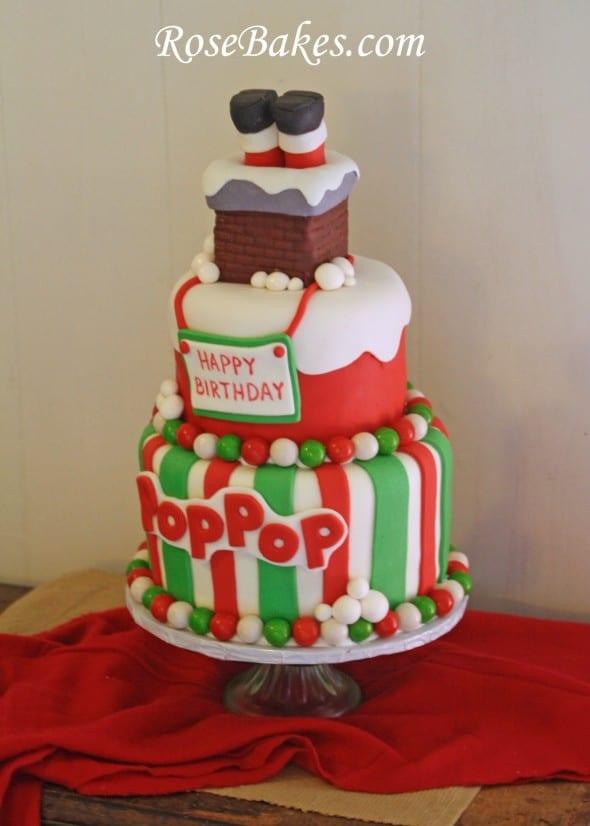 Santa With Birthday Cake