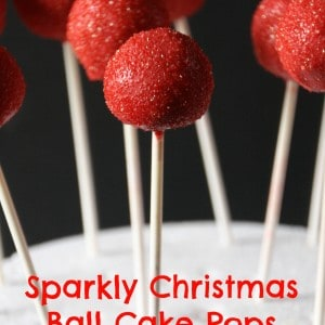 Sparkly Red Christmas Ball Cake Pops