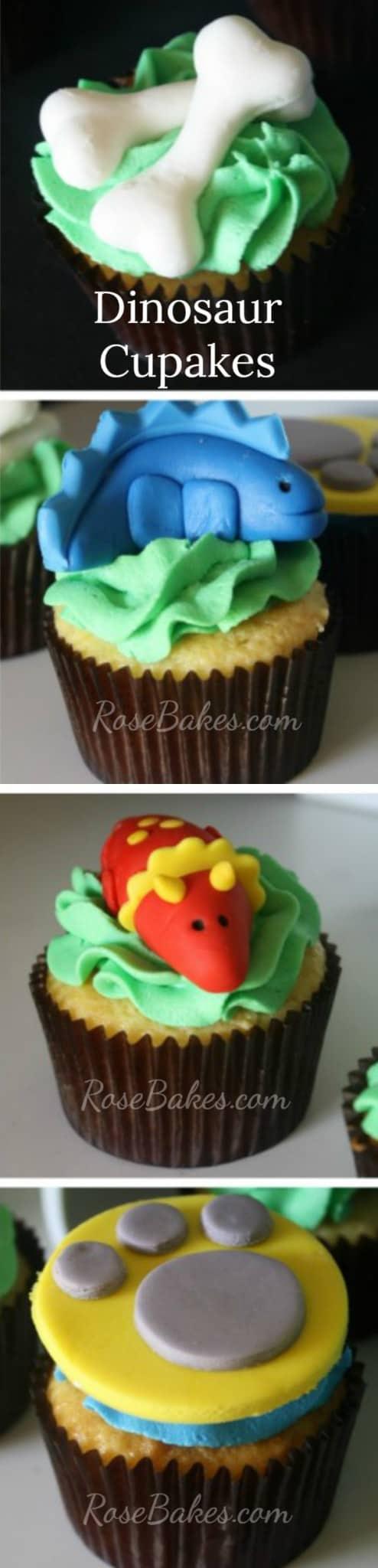Dinosaur Cupcakes RoseBakes