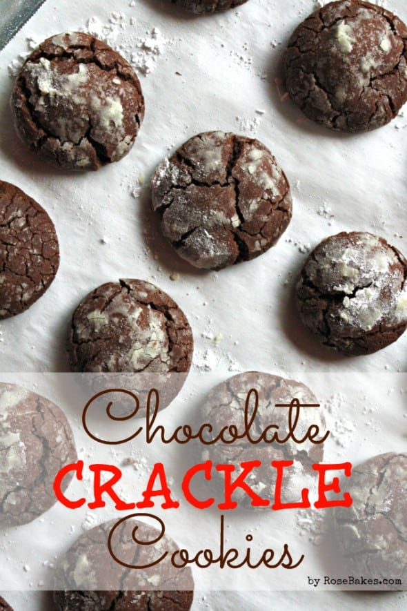 story of how I ended up making these Easy Chocolate Crackle Cookies ...