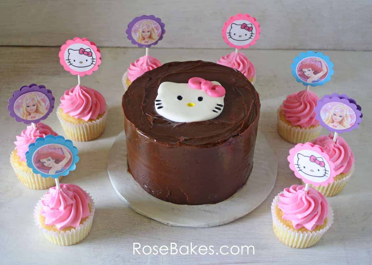 Beautiful Wallpaper Hello Kitty Cupcake - Hello-Kitty-Cake-Ariel-Mermaid-Barbie-Cupcakes  Graphic_49176.jpg