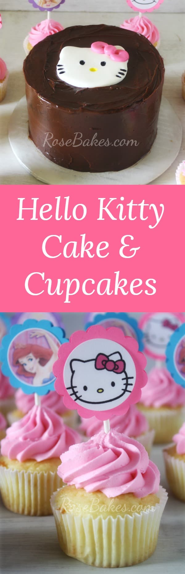 Hello Kitty Cake & Cupcakes