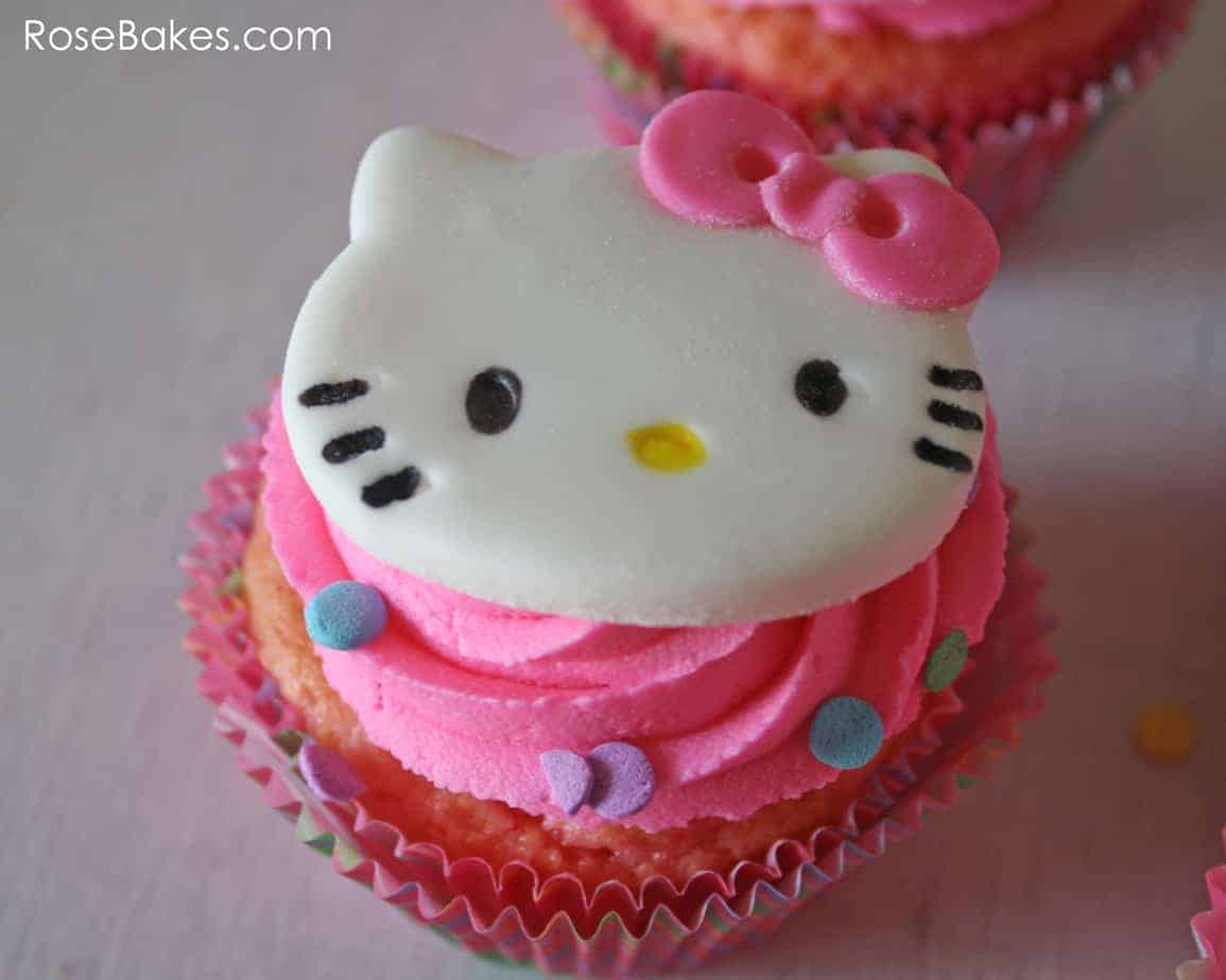 How To Make Hello Kitty Cupcakes